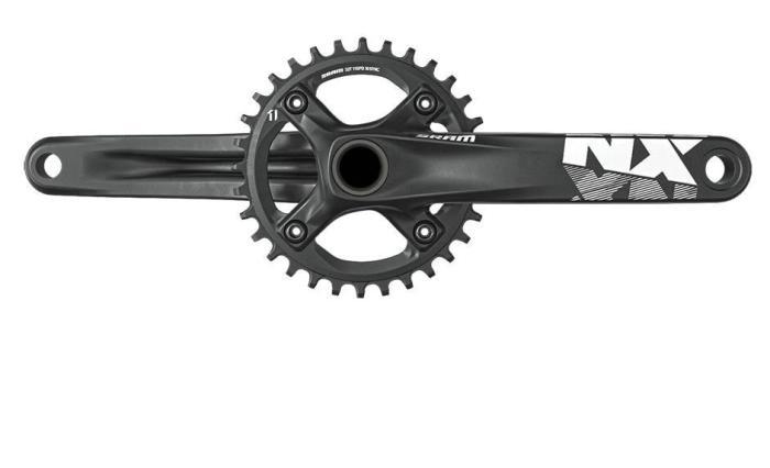 SRAM NX GXP (11) kliky (bez osy) Délka klik 165 mm