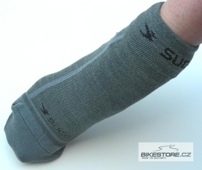 SUGOI Wallaroo Grey ponožky Šedá barva, velikost 37-38